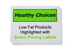 HEALTHY CHOICE CLING. GREEN PRICE LABEL