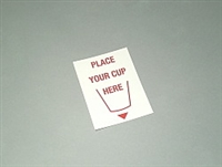 LABELS, PLACE CUP HERE, 3