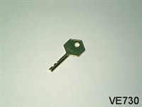 S5 KEY, FOR VE727 CAM LOCK AND VE723 PLUG LOCK