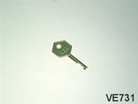 S6 KEY, FOR VE728 CAM LOCK AND VE724 PLUG LOCK