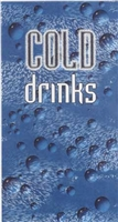 COLD DRINK SIGN, BUBBLE, 68.5 X 27 5/16, FOR DIX 368/501