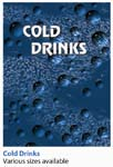 COLD DRINK SIGN, CURVED, 68 1/2