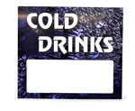 COLD DRINK SIGN, LIVE DISPLAY TOP, FOR DIXIE 501E