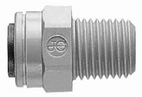 MALE CONNECTOR 1/4 X 3/8 NPTF