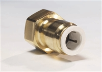 BRASS FITTING- 3/8 TUBE TO 1/4 FEM FL