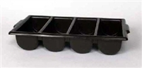 CONDIMENT & CUTLERY TRAY, 4 COMPARTMENT, BLACK