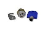 LOCKS & HASPS, REPLACEMENT LOCK, KEY AND CAM FOR PROGEMA