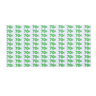 PRICE SHEET, 70/75 GREEN/WHITE, FOR AP 4000/7000/110 SERIES