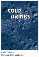 COLD DRINK SIGN, COKE, BLUE BUBBLE, W/CUTOUT, FOR VENDO 407