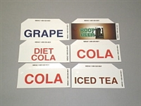 LABEL, COLA, DIET, GRAPE, TEA, ROOT BEER, FOR DIXIE/VENDO